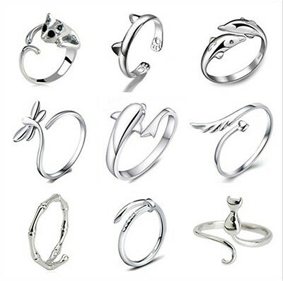 925 Sterling Silver Open Knuckle Rings Party Ring Fit Women Fashion Jewelry Gift