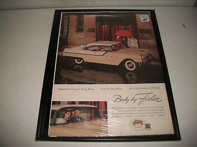 1956 Pontiac Star Chief Catalina  Original Print Advert. Garage Art Collectible
