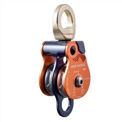 """Rock Exotica Omni-Block 1.5"""" Double Rescue Pulley P51D Made In The USA"""