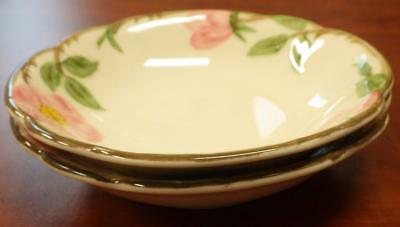 1949 Franciscan Desert Rose TWO (2) Fruit Berry Sauce Bowls No Chips Excellent!