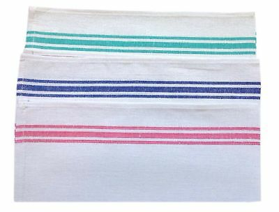 Cotton Rich white Glass Cloth Catering Bar Kitchen Cleaning Tea Towel Pack Of 3