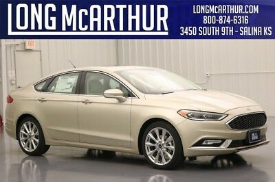 """Ford Fusion PLATINUM FWD 2.0L ECOBOOST 16V AUTOMATIC SEDAN MSRP $37865 HEATED COOLED FRONT LEATHER BUCKET SEATS  19"""" POLISHED ALUMINUM WHEELS"""