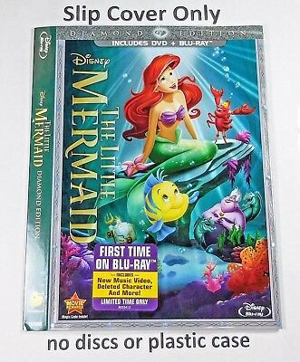 The Little Mermaid - Slip Cover Only - (no blu ray)