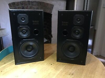 Technics SB-CS90 3 Way Speakers Pair 100 Watt RMS