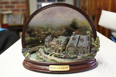 Thomas Kinkade Village of Light Lamplight Lane Half Plate - Limited/Numbered