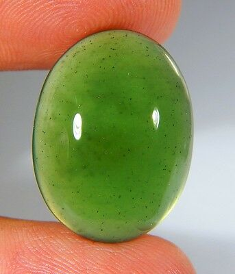 17 Ct Top Natural Green Emerald Color Serpentine Jade Oval Cabochon Gemstone A51