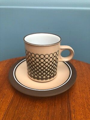Hornsea Coral Coffee Cup And Saucer