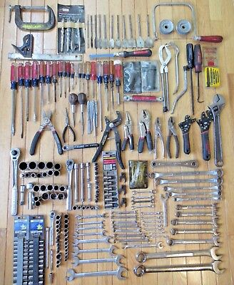 Large Lot of Craftsman USA Tools - Wrenches, Sockets, Ratchets, Pliers & More