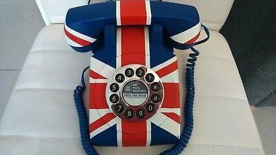 Union Jack Telephone Push Button Classic Retro British Design Telephone