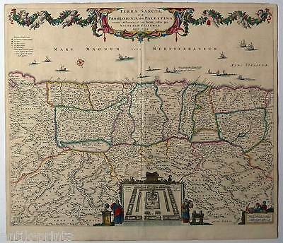 Terra Sancta-Palestina-Holy Land-Israel - Karte-Map Visscher 1659