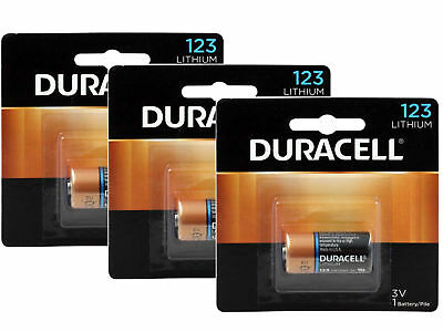 3 x Duracell Ultra Lithium CR123A batteries 3V CR17345 EL123 EXP:2027 Pack of 1