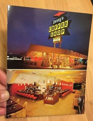 Vintage Denny's Coffee Shop Menu - From Early 1960's Mid Century Modern '60s