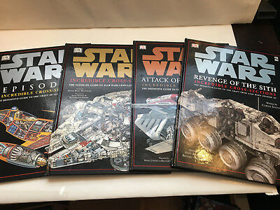 Star Wars DK Book Lot of 4, Definitive Guide to Craft, Vehicles, Spacecraft