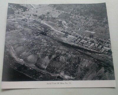 1947 Windber PA. Coal Mine # 35 Aerial View- Railroad, Houses, Mine, Slate Dumps