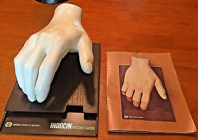 Vtg 1967 5 piece Adv. Merck Muscles Ligaments Bones Of The Hand Anatomical Model