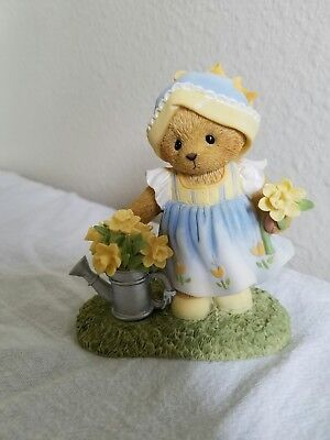 """Cherished Teddies figurine New Flowers """"Our Friendship Is As Sunny As Daffodils"""""""