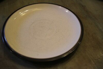 Denby Energy Salad Plate White with Charcoal Trim