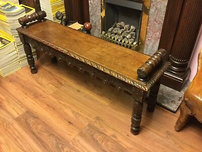 Excellent Antique Gothic Piano Bench Solid Wood Hand Carved Sides 22 5 Gmtry Best Dining Table And Chair Ideas Images Gmtryco
