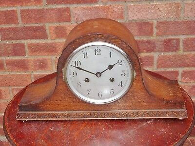 Vintage 8Day Chiming Mantel Clock Made In Wurttemberg, Good Working Order.
