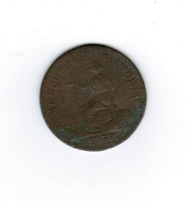 MELBOURNE  1858  HIDE & DECARLE  GROCERS and WINE MERCHANTS TOKEN