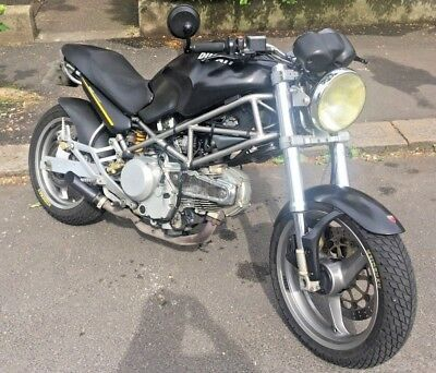 DUCATI MONSTER 600 dark 2001 custom superb and one of the kind not 696 800  1200