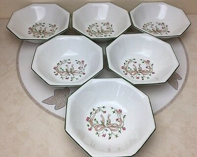Johnson Brothers Eternal Beau 6 x Soup / Cereal Bowls Superb Condition
