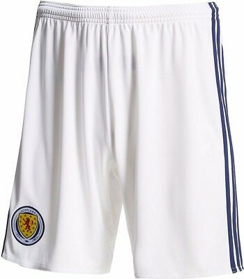 Scotland 2016/17 Adidas Home Shorts White Youths Size 9/10 Bnwt