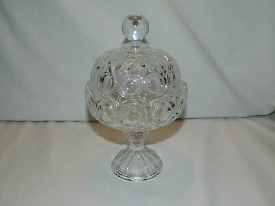 Vintage Crystal Candy Dish With Pedestal Base And Domed Lid
