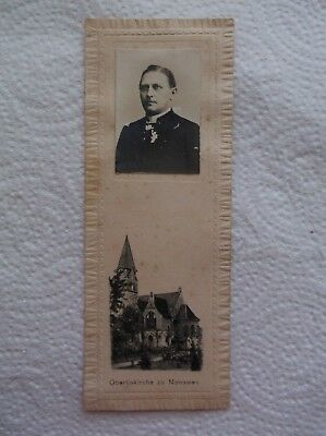 Antique Picture of Pastor and Etching of Church