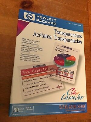 "Sealed Brand New HP Color LaserJet Transparencies C2934A (50 Sheets, 8.5"" x 11"")"