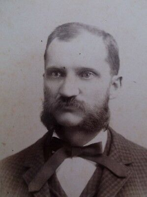 Cabinet Card Handsome Southern Man Mustache Great Sideburns Memphis TN