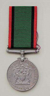 WWII Southern Rhodesia War Service Medal