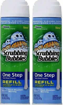 2 Scrubbing Bubbles One Step Toilet Bowl Cleaner Fresh Mountain Morning Refill