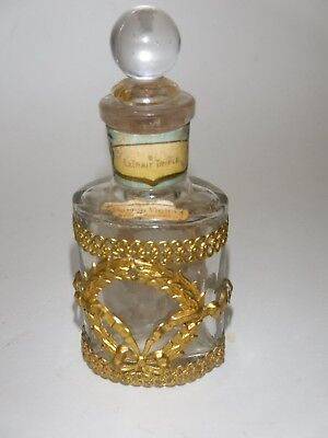 Antique French Perfume Bottle Extrait Triple