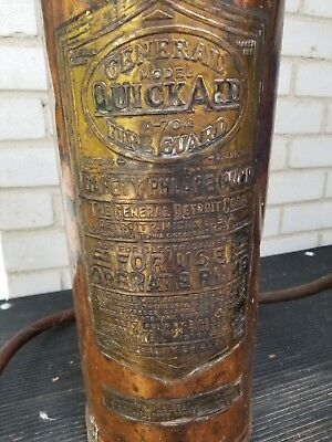Vintage General Quick Aid A-704 Copper Fire Guard Extinguisher Phlare Pump