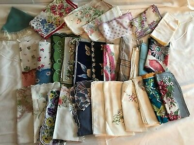 LOT 35 VINTAGE WOMEN'S LADIES HANKIES HANDKERCHIEFS    lot #2