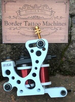 Border Tattoo Machine,cut-Back Liner Custom Iron Frame 8 Layer Red 32Mm Coils