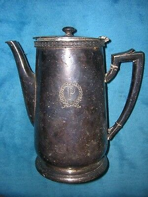 VINTAGE PALMER HOUSE HOTEL CHICAGO ENGRAVED 48 Oz Silver Coffee Pot