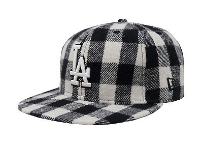 buy popular 6c836 f1860 New Era 59Fifty Cap MLB Los Angeles Dodgers Mens Black White Checker Fitted  Hat