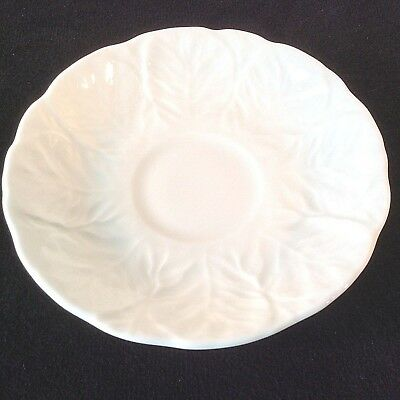 """Wedgwood Countryware Saucer Only No Cup White Cabbage Leaf Bone China England 5"""""""