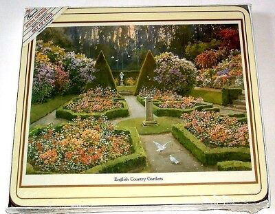 "Vintage Pimpernel Placemats English Country Gardens Set of 4 Sealed 8.5"" x 7.5"""