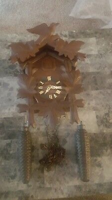 Vintage 1950's-60's Made in Germany Black Forest 8 Day Cuckoo Clock.
