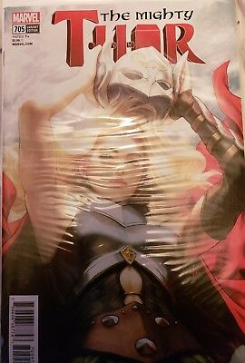 """Mighty Thor (2017 3rd Series) #705 Stanley """"ArtGerm"""" Lau Variant Cover"""