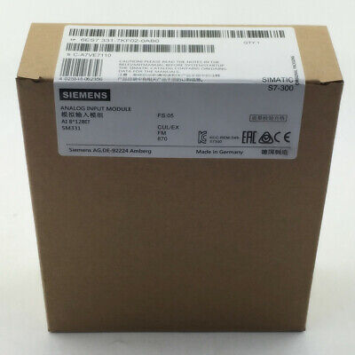 1Pcs Siemens 6Es7 331-7Kf02-0Ab0 6Es7331-7Kf02-0Ab0 Plc New In Box Us Fast Ship