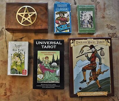 Five Tarot Deck and Oracle Cards Lot Plus Extras