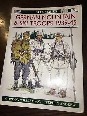 Osprey Military Elite Series WW2 German Gebirgjagers Mountain & Ski Troop Book