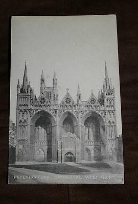 Postcard of Peterborough Cathedral, West Front