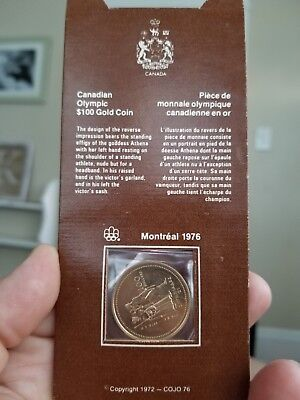 1976 Canadian Olympic $100 Gold Coin