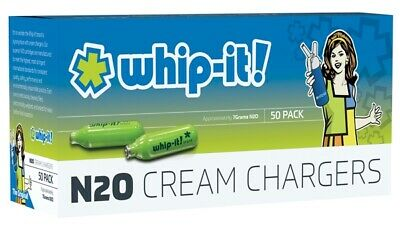 Whip-it! Cream Chargers: 50 Pack x 1 (50 Bulbs) of Nitrous Oxide (N2O)