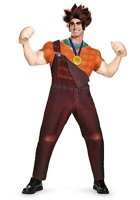 ADULT DELUXE WRECK IT RALPH COSTUME SIZE XL (Missing eyebrows)